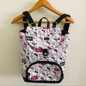 Hello Kitty Sanrio Yay White Pink Black Backpack